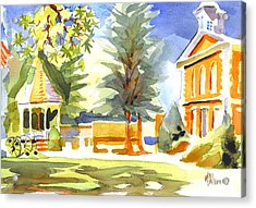 Beautiful Day On The Courthouse Square Acrylic Print by Kip DeVore