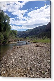 Beautiful Day On The River Acrylic Print