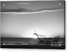 Beautiful Disaster Bw Acrylic Print by Michael Ver Sprill