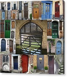 Beautiful Doors In London France And Belgium Acrylic Print by Cathy Jacobs