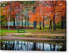 Beautiful Fall Foliage In New Hampshire Acrylic Print by Edward Fielding