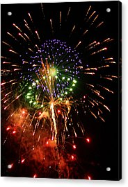 Beautiful Fireworks Works Acrylic Print by Kim Pate