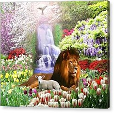 Beautiful Garden Acrylic Print