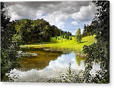 Beautiful Garden Summer Landscape Acrylic Print