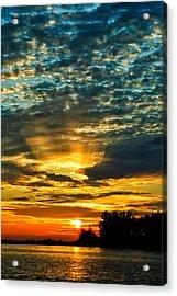 Beautiful Gulf Of Mexico Sunset Acrylic Print by Louis Dallara