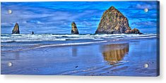 Beautiful Haystack Rock And The Needles Acrylic Print by David Patterson