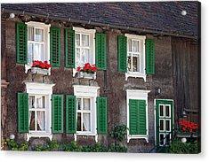 Beautiful House In Austria With Decoration Acrylic Print by Tatyana Tomsickova