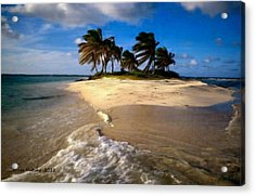Acrylic Print featuring the painting Beautiful Island by Bruce Nutting