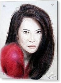 Beautiful Lucy Liu Acrylic Print by Jim Fitzpatrick