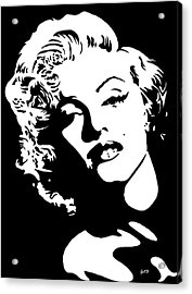 Beautiful Marilyn Monroe Original Acrylic Painting Acrylic Print by Georgeta  Blanaru