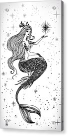 Beautiful Mermaid With Star In Her Acrylic Print