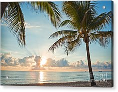 Beautiful Morning In Ft. Lauderdale Florida Acrylic Print by Sharon Dominick