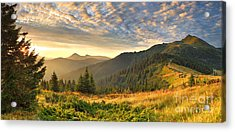 Beautiful Mountains Landscape Acrylic Print by Boon Mee