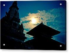 Beautiful Night Scene In Old Town Bhaktapur Acrylic Print