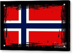 Beautiful Norway Flag Acrylic Print by Pamela Johnson