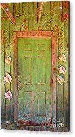Beautiful Old Door With Seashells Acrylic Print by John Malone