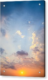 Beautiful Orange Sunset Acrylic Print
