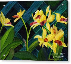Beautiful Orchids  Acrylic Print by Maria Williams