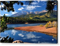 Beautiful Pikes Peak At Crystal  Acrylic Print