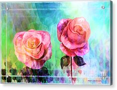 Beautiful Pink Roses Acrylic Print by Annie Zeno