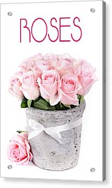 Beautiful Pink Roses Valentine Acrylic Print by Boon Mee