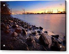 Beautiful Port Of Hamburg Acrylic Print by Marc Huebner