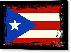 Beautiful Puerto Rico Flag Acrylic Print by Pamela Johnson