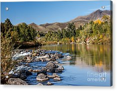 Beautiful River Acrylic Print by Robert Bales