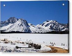 Beautiful Sawtooth Mountains Acrylic Print by Robert Bales