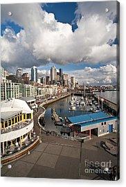 Beautiful Seattle Sky Acrylic Print by Mike Reid