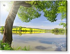 Beautiful Spring Landscape Acrylic Print by Boon Mee