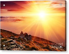 Beautiful Summer Landscape Acrylic Print by Boon Mee