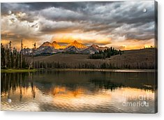 Beautiful Sunrise On Little Redfish Lake Acrylic Print