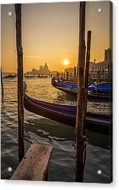 Beautiful Sunset In Venice Acrylic Print by Francesco Rizzato