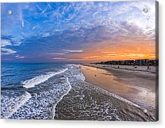 Beautiful Sunset Over Tybee Island Acrylic Print by Mark E Tisdale