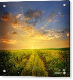 Beautiful Sunsets Photos Acrylic Print by Boon Mee