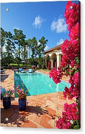 Beautiful Swimming Pool With Lounge Acrylic Print by Terryj