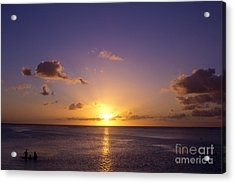 Beautiful Tropical Island Sunset On The Beach In Guam Acrylic Print