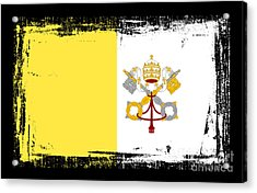 Beautiful Vatican City Flag Acrylic Print