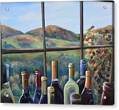 Acrylic Print featuring the painting Beautiful View by Donna Tuten