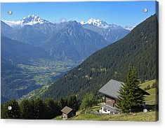 Beautiful View From Riederalp - Swiss Alps Acrylic Print