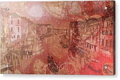 Acrylic Print featuring the painting Beautiful View Of Italian Silk by Catherine Lott