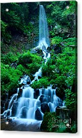 Beautiful Waterfalls In Karuizawa Japan Acrylic Print
