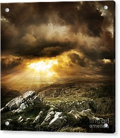 Acrylic Print featuring the photograph beautiful Wilderness Rugged nature landscape by Boon Mee