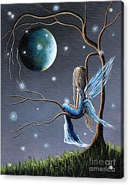 Fairy Art Print - Original Artwork Acrylic Print by Shawna Erback