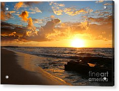 Beauty And The Beach Acrylic Print by Deena Otterstetter