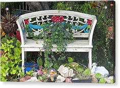 Acrylic Print featuring the photograph Beauty And The Bench by Ella Kaye Dickey