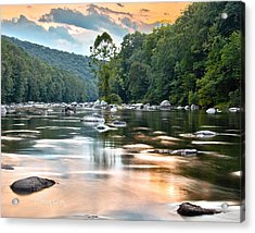 Beauty At Low Tide Acrylic Print by Tom Cameron