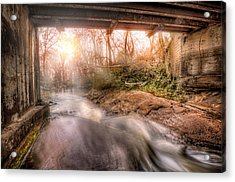 Beauty From Under The Old Bridge Acrylic Print by Brent Craft