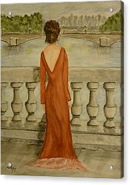 Acrylic Print featuring the painting Beauty In Paris by Kelly Mills